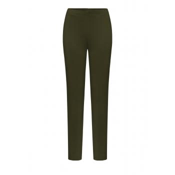 Thickened Skinny Trousers dark green