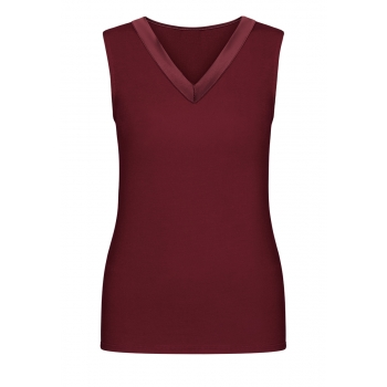 Satin Trimmed Top burgundy