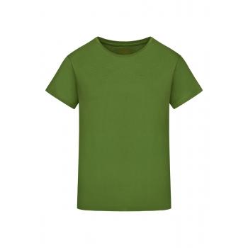 Трикотажная фуфайка с коротким рукавом цвет зелёный
