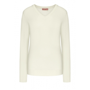 Long Sleeve Jersey Jumper white