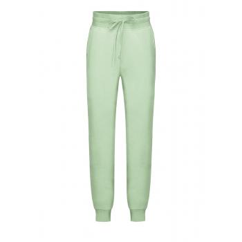 Трикотажные брюки для девочки цвет мятный