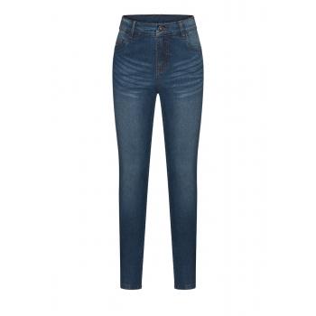 Брюки из джинсовой ткани для девочки цвет синий