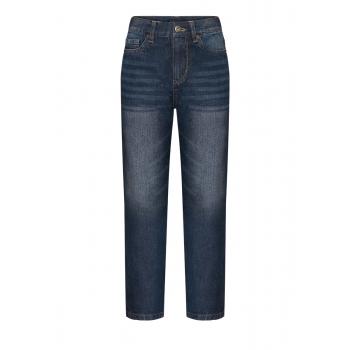 Брюки из джинсовой ткани для мальчика цвет синий