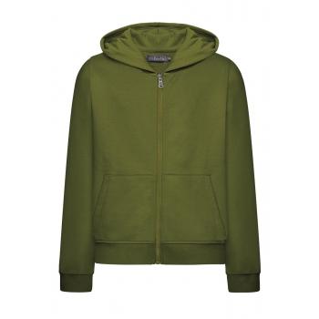Трикотажная толстовка с длинным рукавом для мальчика цвет тёмнозелёный