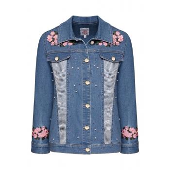Куртка из джинсовой ткани цвет голубой