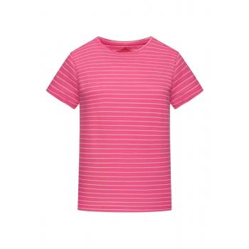 Трикотажная фуфайка с коротким рукавом цвет розовый