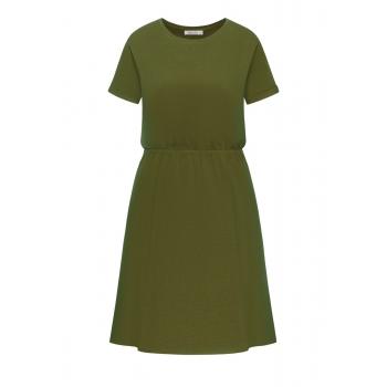 Short Sleeve Jersey Dress khaki