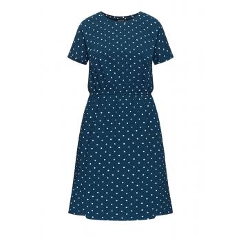 Трикотажное платье с коротким рукавом цвет тёмносиний