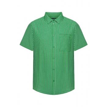 Рубашка в клетку для мужчины цвет зеленый