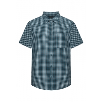 Mens Short Sleeve Shirt dark blue