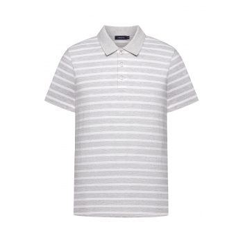 Mens Polo Shirt grey melange