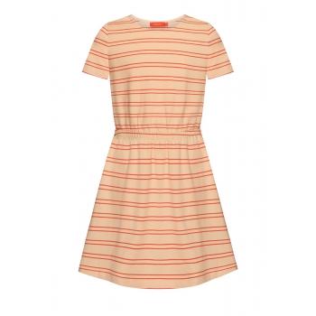 Платье в полоску для девочки цвет бежевый