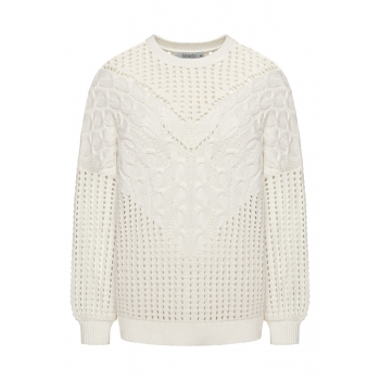 Long Sleeve Knit Jumper white