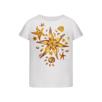 Girls Short Sleeve Tshirt white