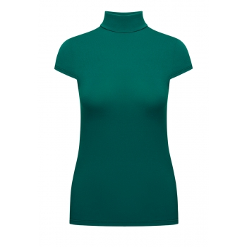 Short Sleeve Turtleneck emerald
