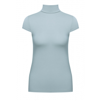 Short Sleeve Turtleneck blue