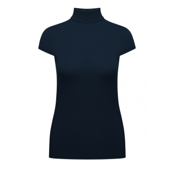 Short Sleeve Turtleneck dark blue