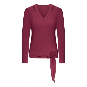 Long Sleeve Top burgundy
