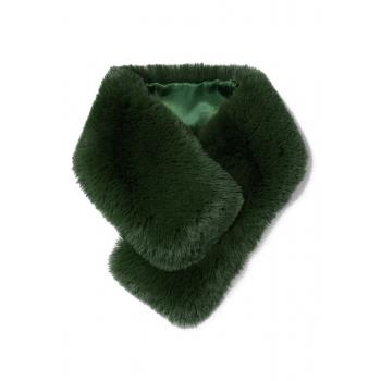 Faux Fur Throat Wrap emerald