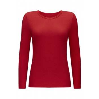 Long Sleeve Thermal Tshirt red