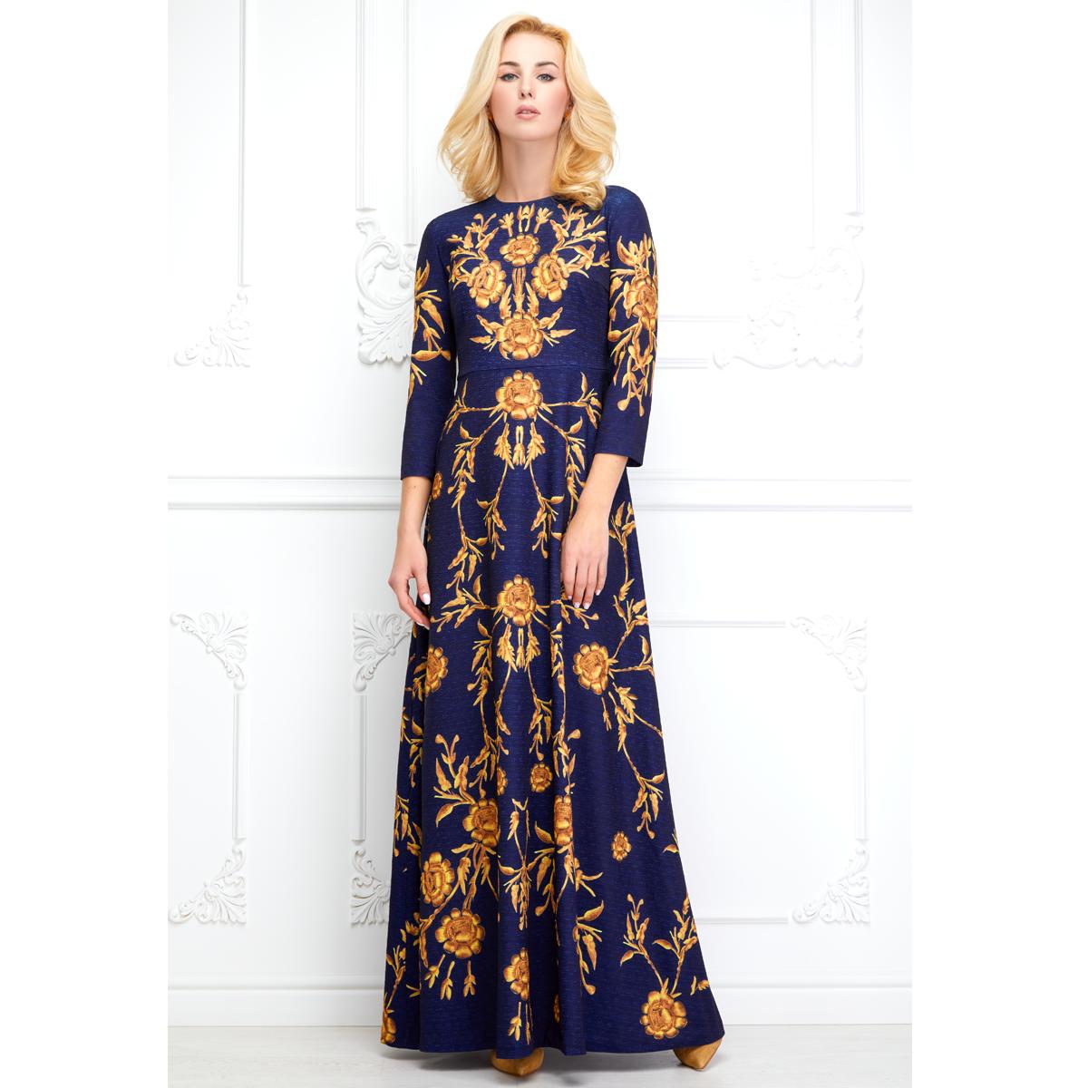 a5ef81e3c2f Фаберлик ✿ Вечернее платье из фактурного жаккарда с орнаментом ...