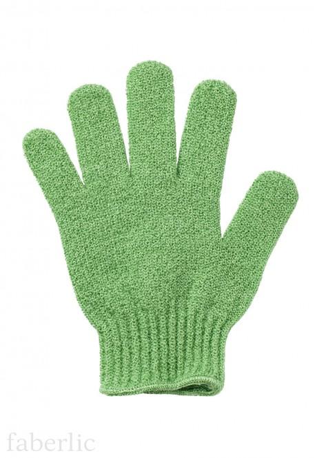 Green Faberlic shower glove