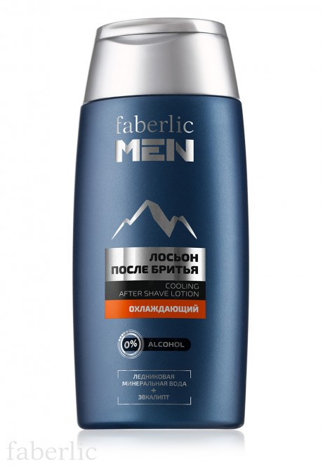 Cooling aftershave lotion