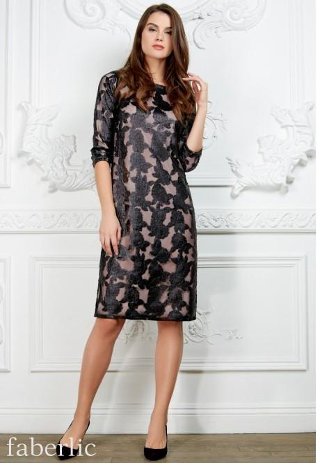 Платье с кожаными розами