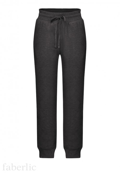 Jersey trousers for boy dark grey melange