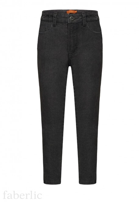 Denim trousers for girl grey