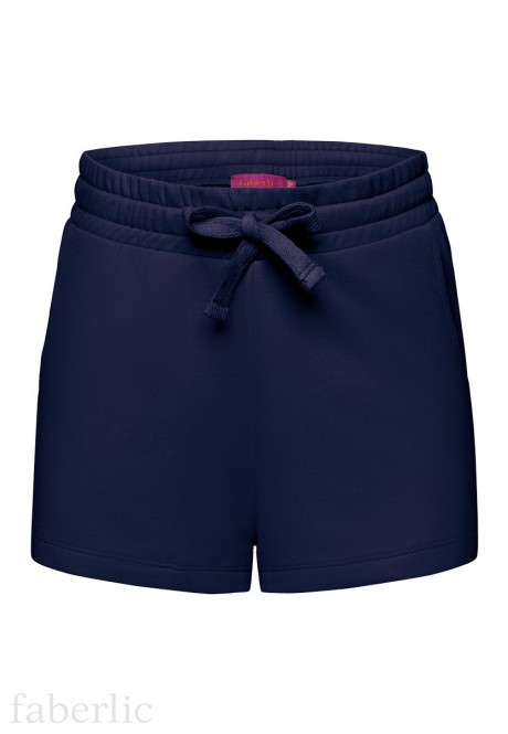 Jersey shorts for girl dark blue