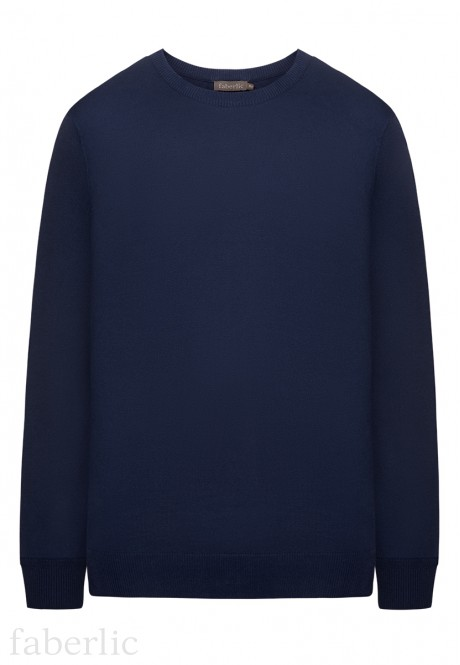 Mens Knit Jumper dark blue