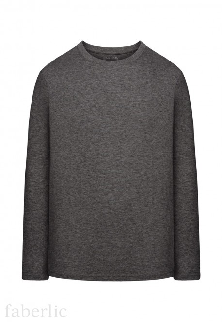 Mens LongSleeve Jersey Tshirt dark grey melange