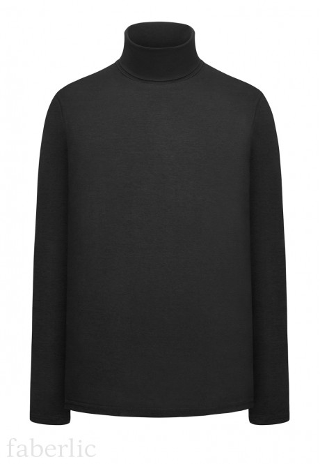 Jersey Turtleneck black
