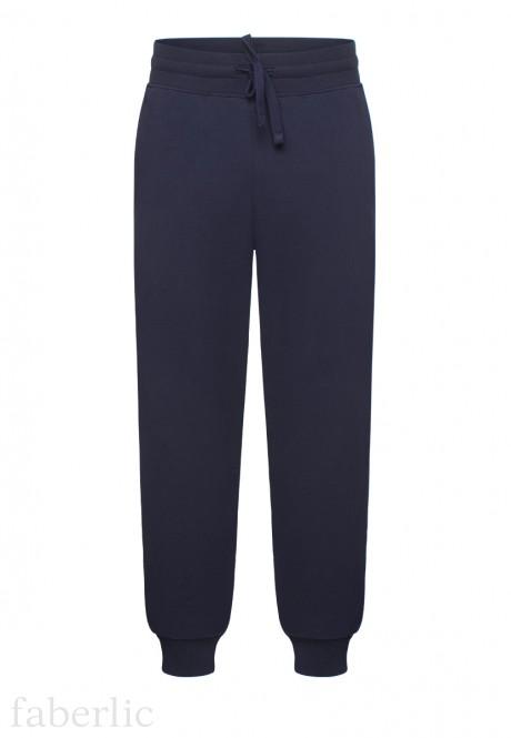 Чоловічі трикотажні штани колір темносиній