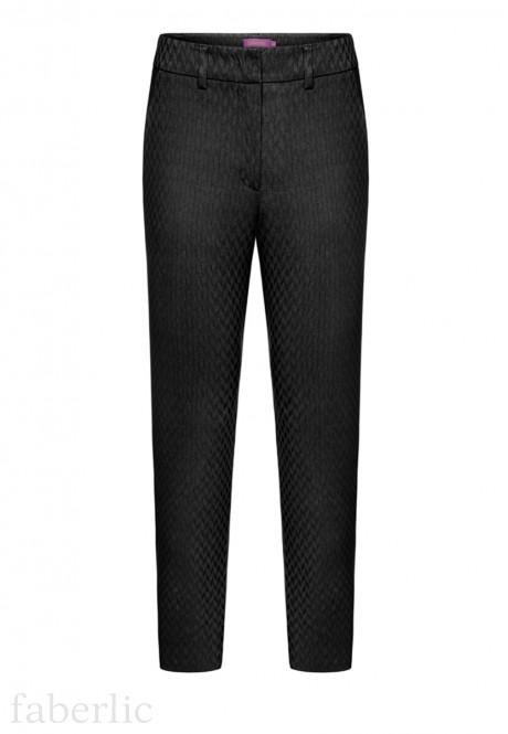 Узкие брюки из жаккарда цвет черный