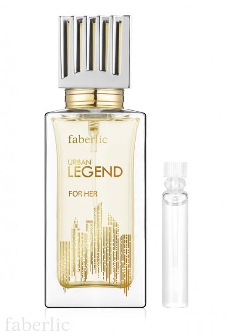 Пробник парфюмерной воды для женщин faberlic URBAN LEGEND