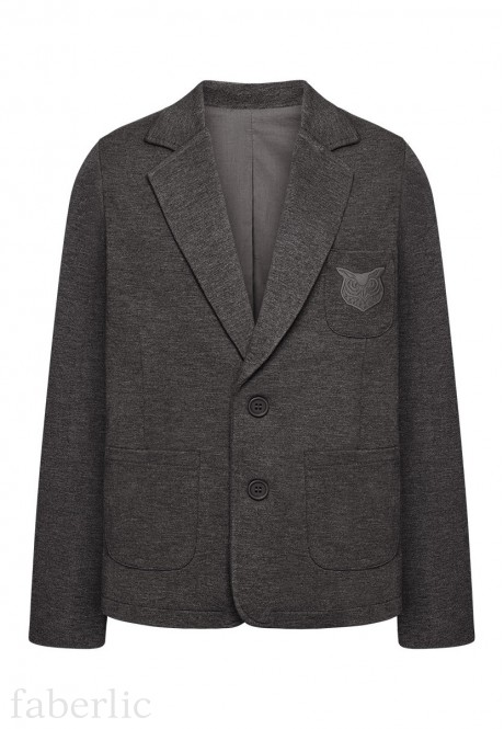 Jersey blazer jacket for boy dark grey melange