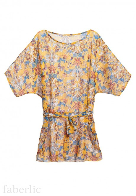 Oriental Beach Dress yellow
