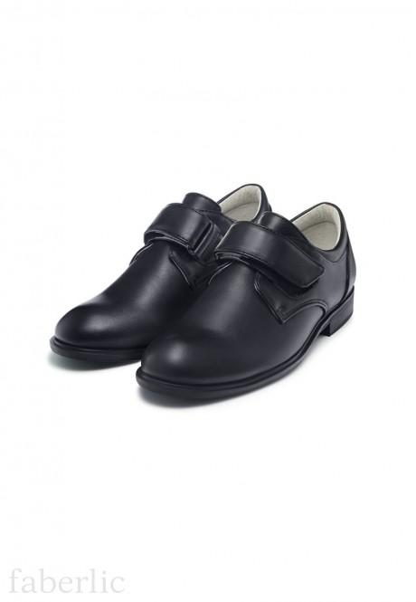 Полуботинки Gentleman для мальчиков черные