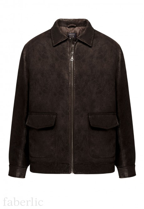 Mens insulated ecoleather jacket