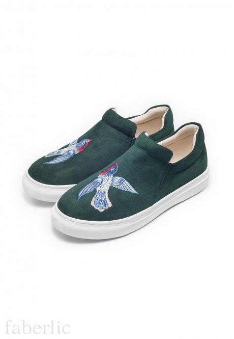 Girls Fairytale slipons emerald