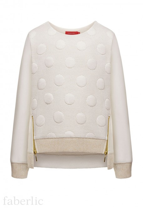 Girls textured sweatshirt milk