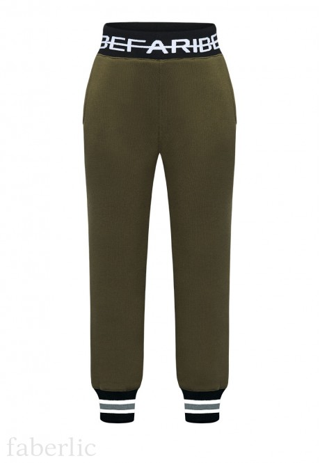 Boys jersey trousers khaki