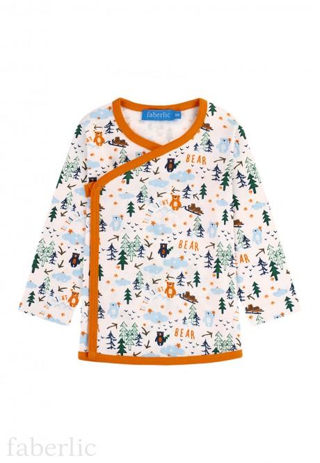 Baby Boy jersey kimono shirt milky