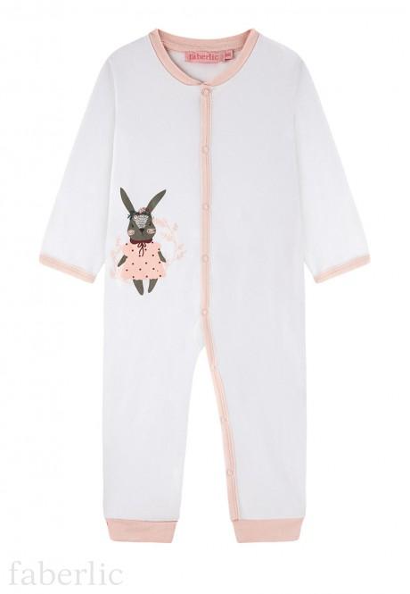 Baby Girl jersey onesie milky