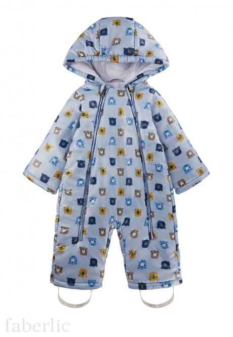 Babys Insulated Overall printed blue