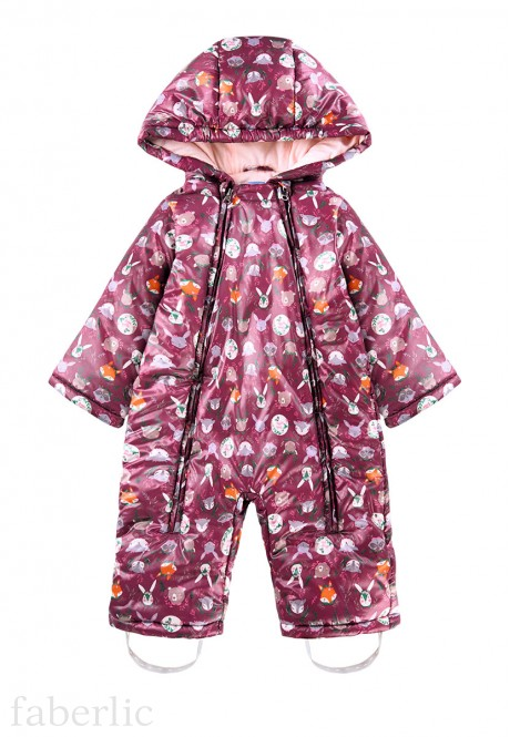 Babys Insulated Overall printed pink