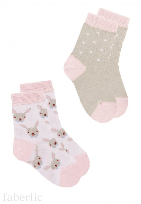 Носки для девочки набор из 2х пар SOD100