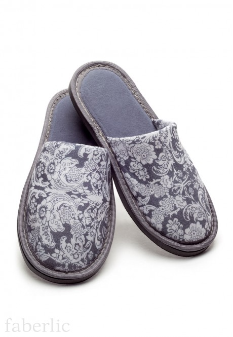 Womens home slippers grey